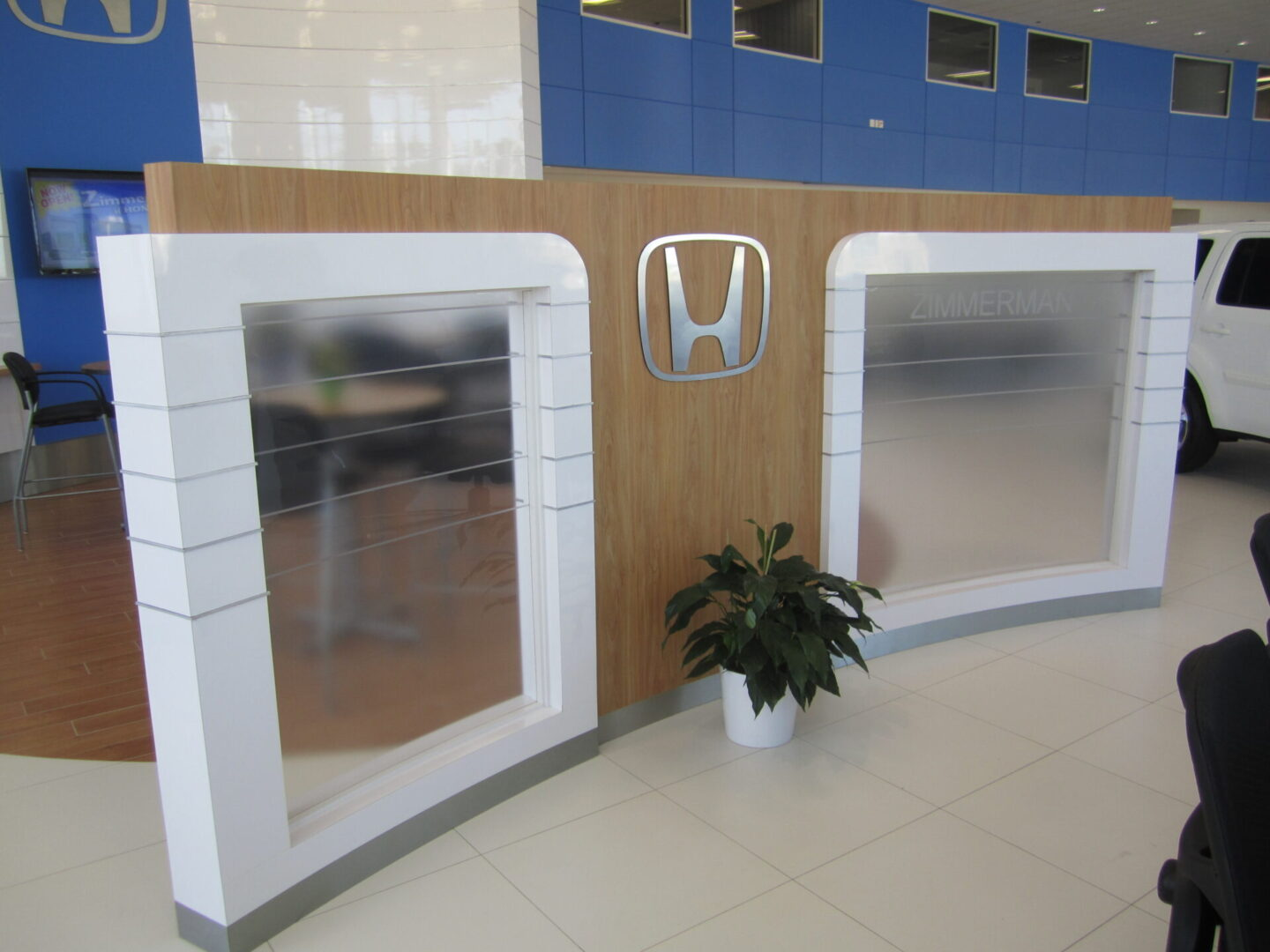 Reception Desk back wall